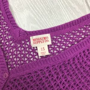 Mossimo Supply Co. Sweaters - Mossimo Open Knit Crop Cardigan